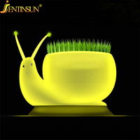Brand New Snail Rechargeable USB LED Night Light Kids Baby Lamp Green White Table BedRoom Decorating Desk Lamps Lights Fixtures