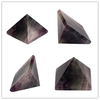ассорти 40 мм черный обсидиан пирамида флюорит розовый кварцевый и из натурального камня резные точка чакры рейки исцеление кристалл бесплатная чехол