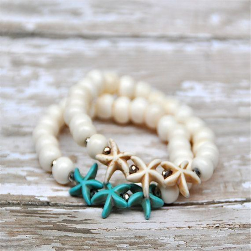 Dongmu jewellery new 2017 summer fashion Bohemian style starfish colorful bracelet ladies exquisite gift New Year gift