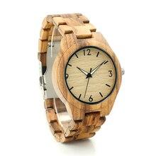 BOBO BIRD G24 Zebra Wooden Case Mens Wristwatch Brand Designer Male Causal Quartz Watch Wooden Strap Leather Strap Available