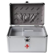 HZX30—The 9 inch B016-5 Aluminum Alloy safety box household medical home box first aid box