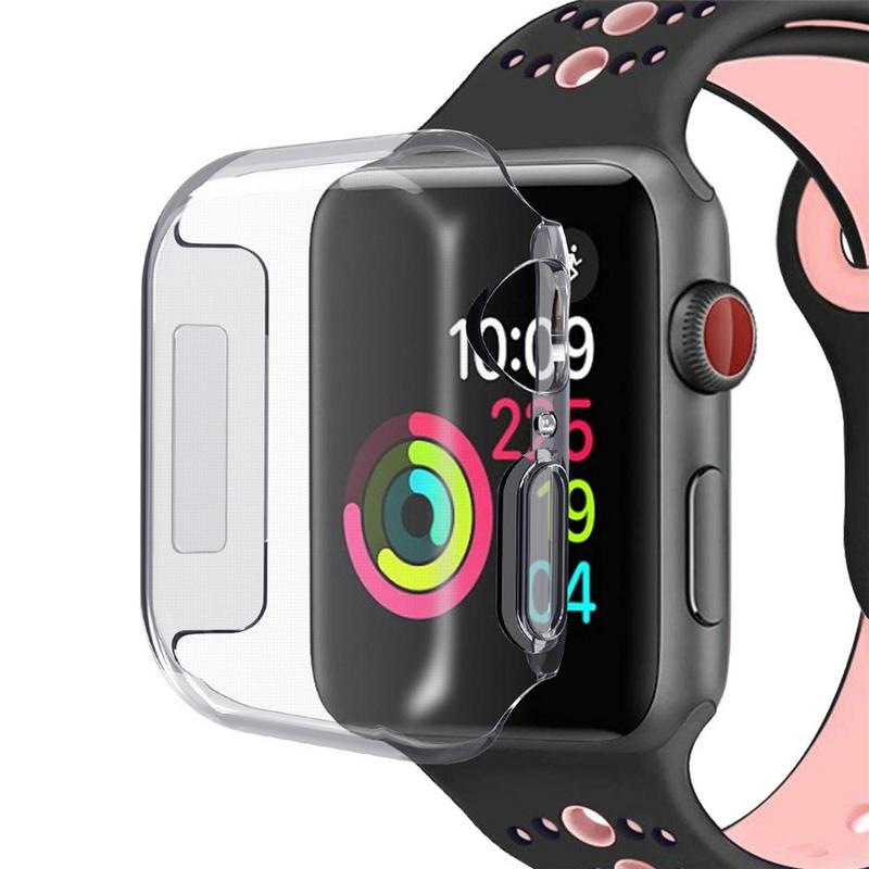 все цены на For Apple Watch IWatch Series 4 38mm 42mm Thin TPU Transparent Shell Protective Case Cover онлайн