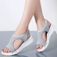 купить MIUBU 2019 Summer Style Fashion Women Shoes Breathable Mesh Casual Shoes Woman Slip-on Ballet Flats Laides Shoes Big Size 35-44 по цене 554.37 рублей