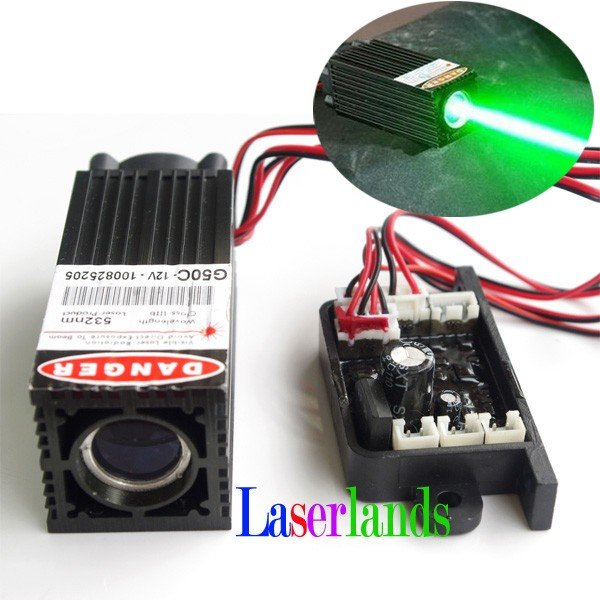Fat Beam 60mW~80mW 532nm Green Laser Diode Module TTL Stage Lighting