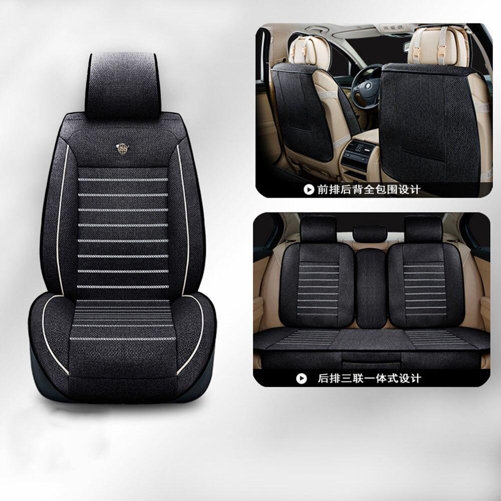 Four Seasons Лен роскошные сиденья пять комплектов все в окружении Автокресло Чехлы полный набор комфорт автомобиля сиденья