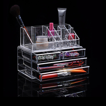Acrylic transparent Makeup Organizer Storage Boxes Make Up Organizer For Cosmetics Brush Organizer home Storage Drawers type