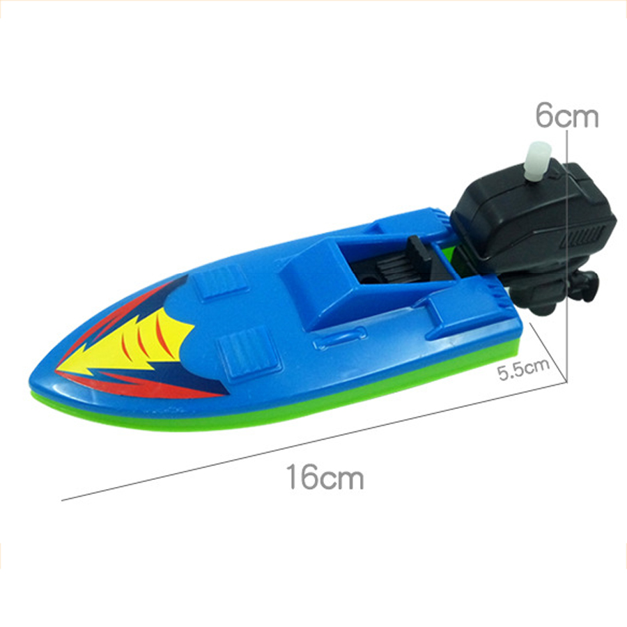 Baby Bath Toys For Children Wind Up Speedboat Boat Fun Game For The ...