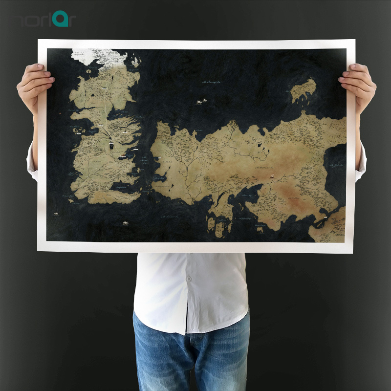 Modern Wall Art Picture Game of Thrones Map Posters Large Oil Canvas Painting Prints for Home Decoration NO Framed