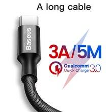 5 M Tipi C Uzun Kablo Yükseltme USB C C Kablo Desteği Hızlı samsung için şarj galaxy note 9 s9 s10 USB C Cihazları Uzun Kablolar