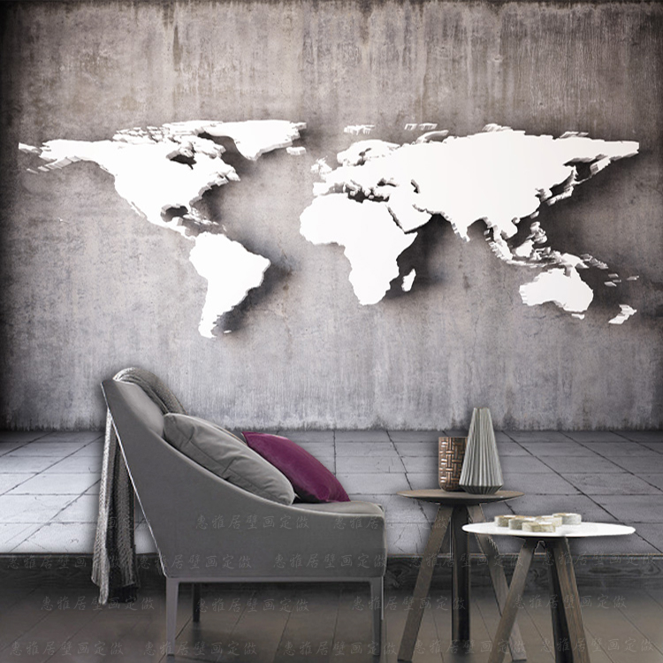 Large 5d 8d Vintage World Map Murals Cement 3d Wall Photo Mural 3d wall paper Murals for Background Wall paper 3d papel Murals white horse animal murals 3d animal wallpaper papel mural for dinning room background 3d wall photo murals wall paper 3d sticker