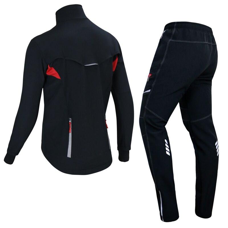X TIGER hiver polaire thermique cyclisme veste manteau réfléchissant vélo vêtements ensemble vêtements de sport coupe vent vtt vélo maillots vêtements - 2