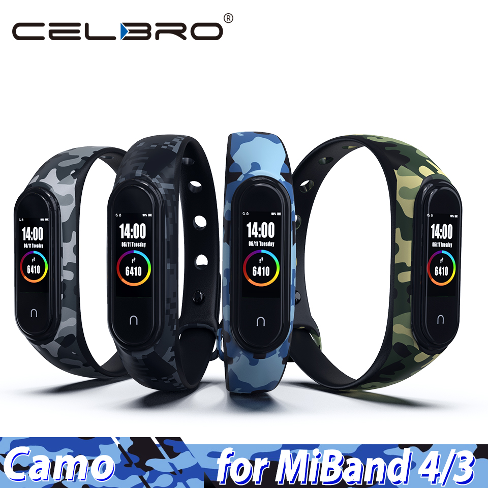 Silicone Wristband Replacement Smart-Bracelet NFC 3-Strap Camouflage for 4 Mi