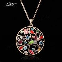 Преувеличены большой кристалл Ожерелья и Подвески модный бренд старинных ювелирных изделий Rhinestone/ювелирные изделия для женщин DFN049