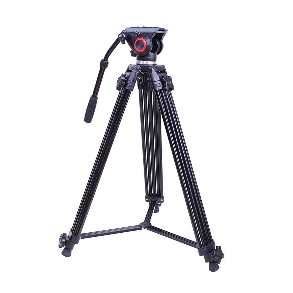 FT10 Manfrotto head design Professional Aluminum flexible video fluid head camera travel tripod camcorder for Nikon Canon Sony