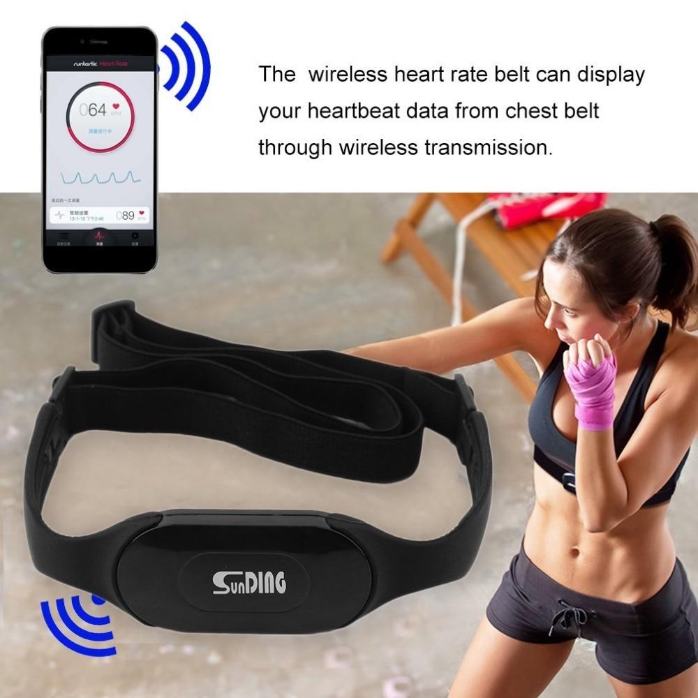 Waterproof Bluetooth 4.0 Wireless Heart Rate Monitor Wireless Heart Beat Belt Sports Perform Calories and Fat Calculation Black все цены