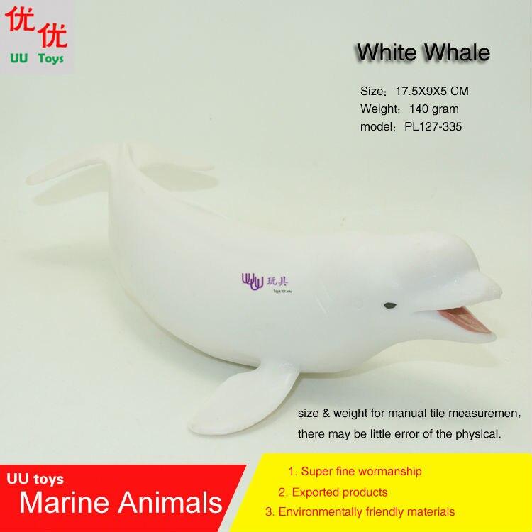 ᓂJuguetes calientes ballena beluga (blanco ballena) modelo de ...