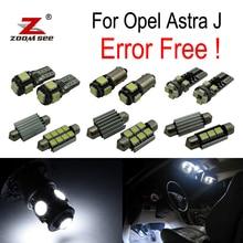 15x лампа номерного знака+ декодер+ светодиодный комплект внутренних купольных ламп для Vauxhall для Opel для Astra J OPC GTC Sports Tourer(09-15