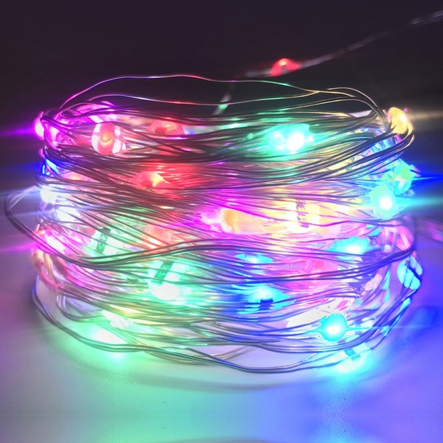 Multi Color Changing String Lights Waterfall Fairy Lights Battery