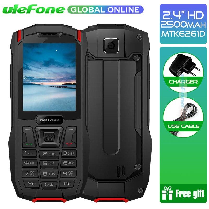 Ulefone Броня мини Водонепроницаемый IP68 открытый мобильный телефон Беспроводной 2,4 MTK6261D 2500 мАч 0.3MP Dual SIM прочный телефон 32MP Оперативная память