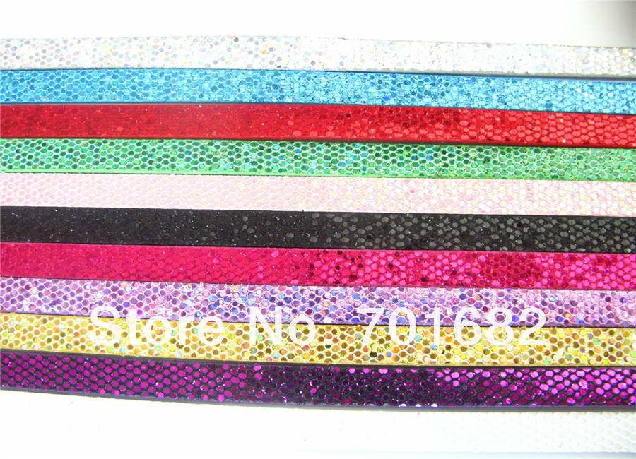 50 шт. разноцветная, из искусственной кожи кожа блесток DIY ремень мм 8 мм ширина длиной 1 м fit мм слайд письмо Шарм DIY аксессуар