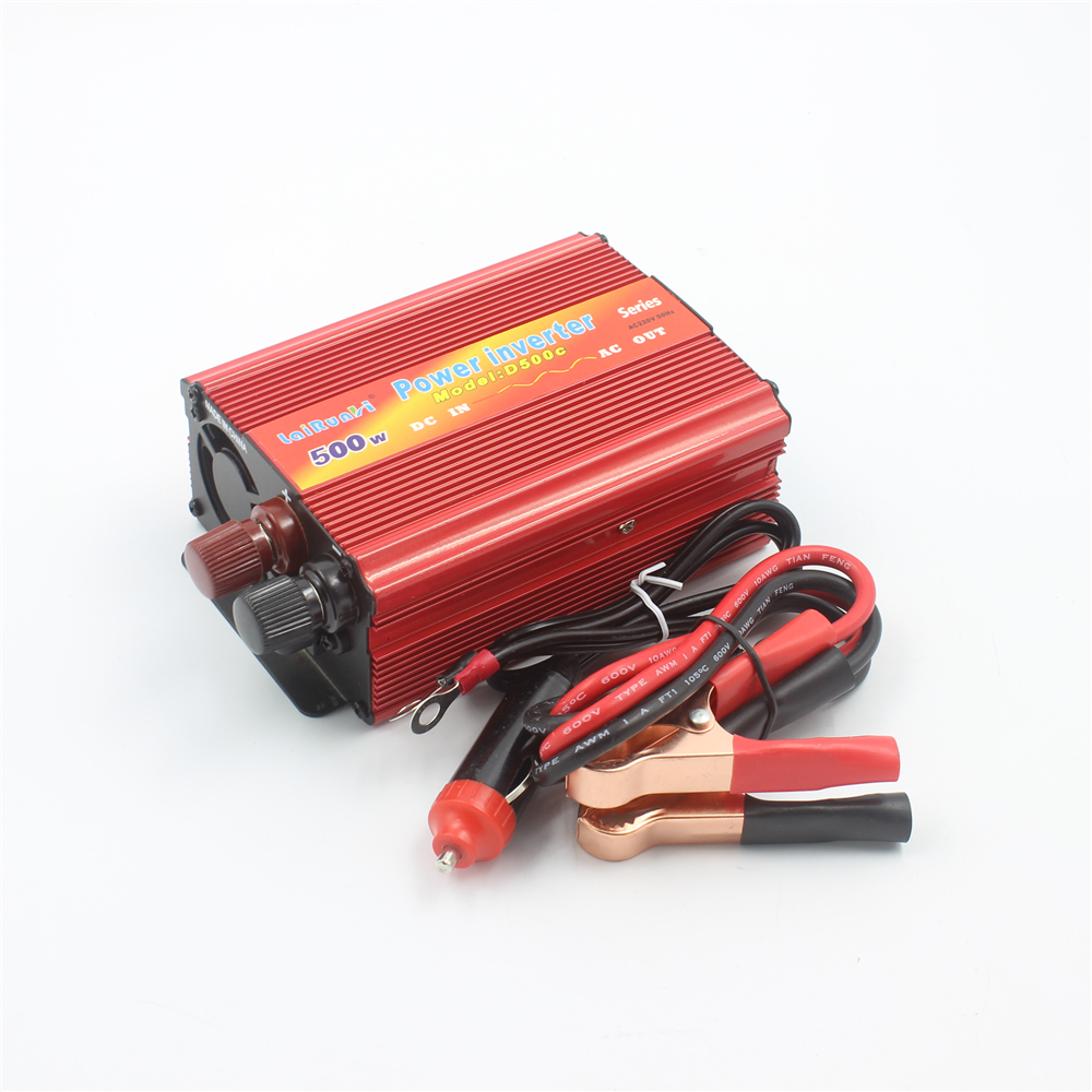 Car Inverter 500W 12V/24V DC to AC 220V Car Auto Power Inverter Converter Adapter Adaptor 500W USB Car Charger 1 pc 500w outlets power inverter dc 12v to ac 220v car adapter laptop smartphone vek04