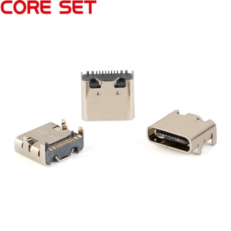 10 шт. Micro USB-3.1 SMD 16P type-c гнездовой разъем DIP4 Hd интерфейс передачи для смартфонов разъем для зарядки