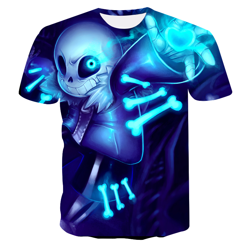 2019 New Undertale Sans Pattern Unisex T-shirt 3D Printing Fashion Men's T-shirt Harajuku Tops