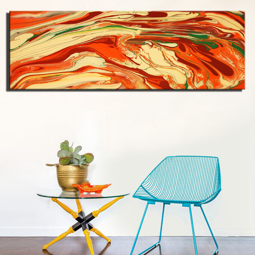 Abstract color line pop art posters for living room wall decor large size colorful abstract canvas wall art paintings unframed in painting calligraphy