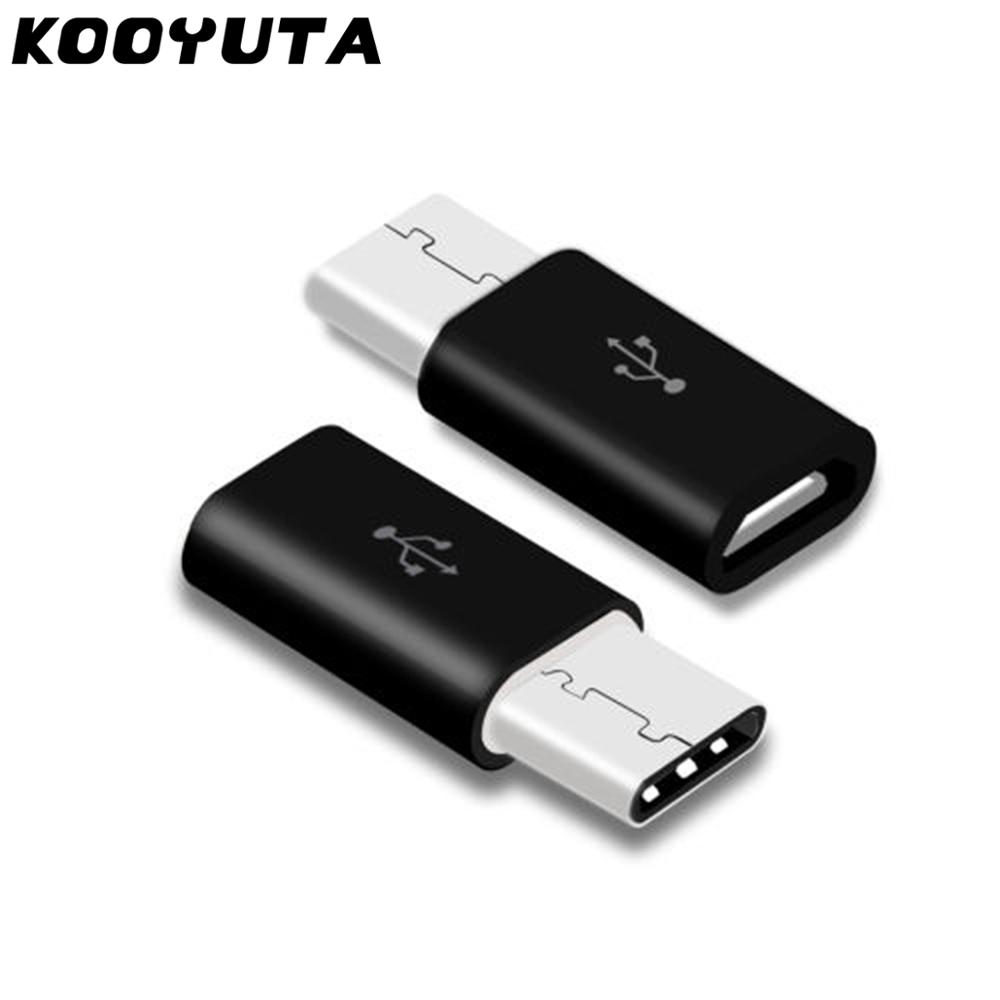 2pcs/lot Universal USB 3.1 Type-C Male Connector To Micro USB Female Converter USB-C Data Adapter Type C Device