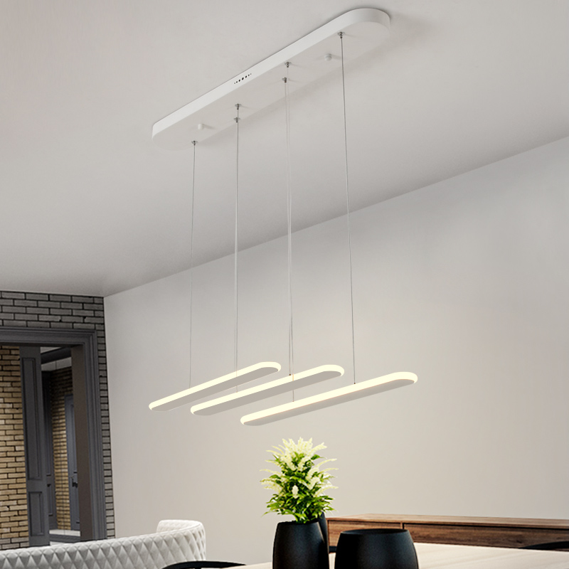 LICAN Dining Living Room Modern LED Pendant Light 3 heads Aluminum Hanging Lamps Home Deco LED Pendant Lamp Brightness dimmable modern fashion luxurious rectangle k9 crystal led e14 e12 6 heads pendant light for living room dining room bar deco 2239