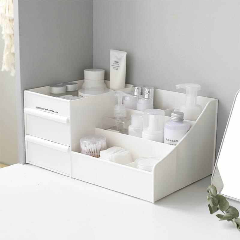 Plastic Storage Box Makeup Drawers Organizer Box Jewelry Container Make up Case Cosmetic Office Boxes Make Up Container Boxes