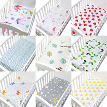 100% Cotton Percale Fitted Portable/Mini Crib Sheet Bed Soft Baby Mattress Cover 130*70 cm