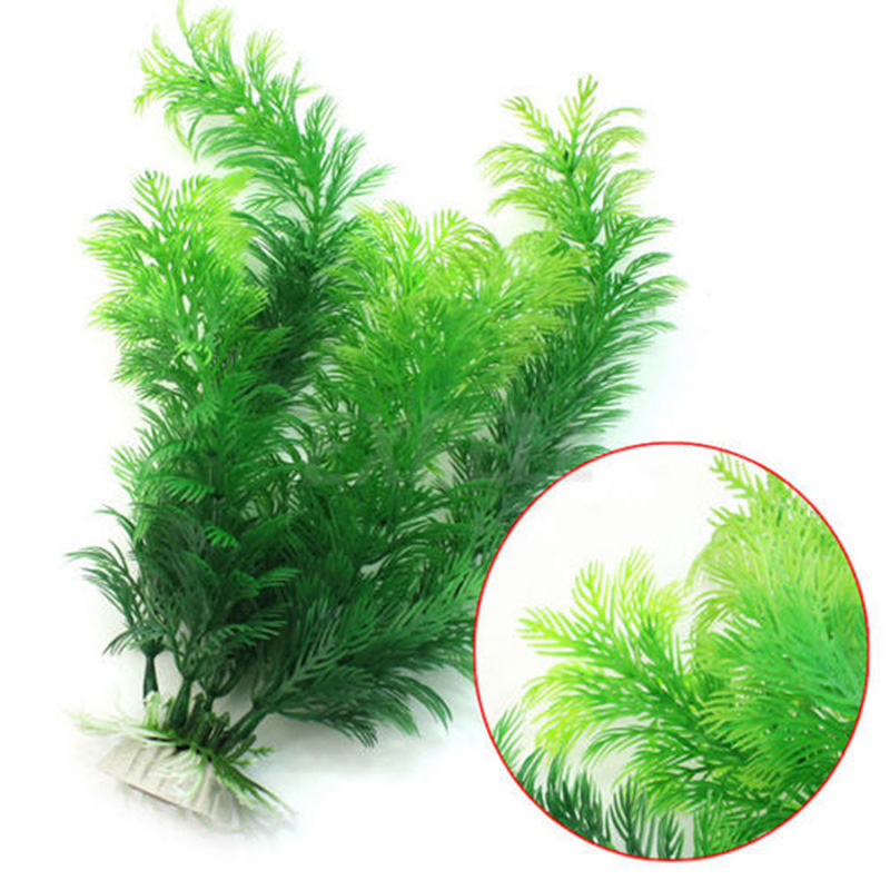 Artificial water grass aquarium plant ornaments plastic for Artificial fish pond plants