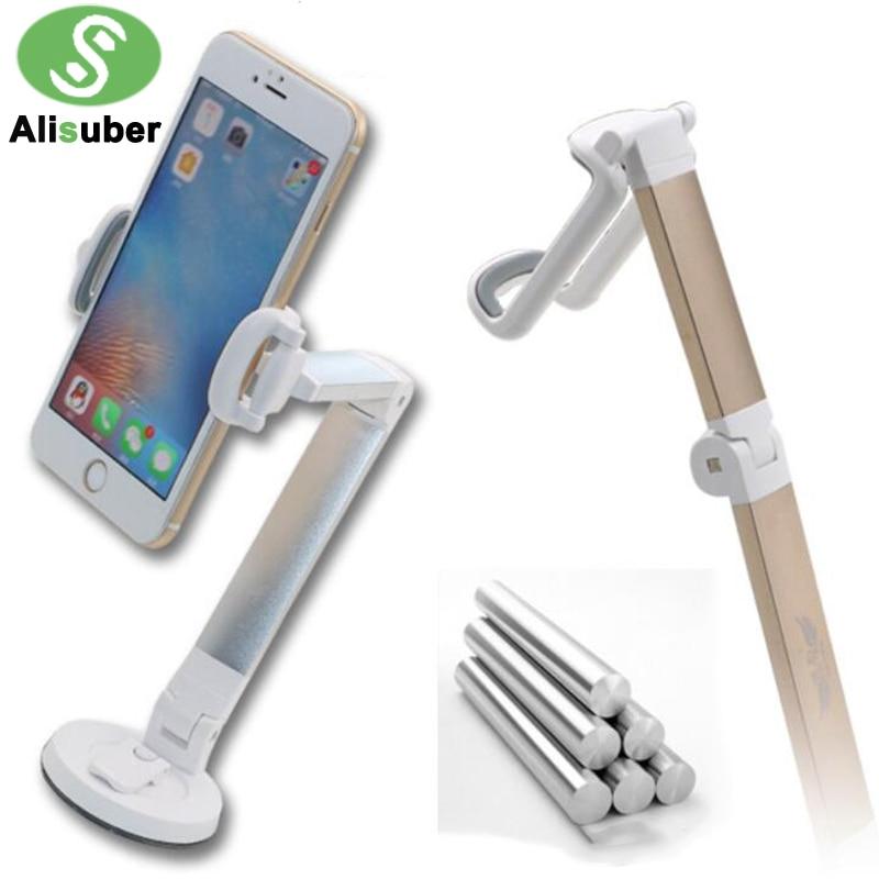 Alisuber Aluminium Long Arm Car Phone Holder 360 Rotate Foldable Car Dashboard Windshield Mount Sucker Desk Phone Stand Holder