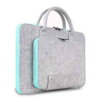 Unisex Wool Felt Laptop Liner Sleeve Bag Case For Macbook Asus Lenovo HP Dell Notebook Computer