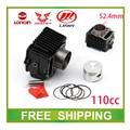 Zongshen loncin lifan 52.4mm bloque de cilindro atv quad dirt pit bike 110cc pistón pin anillo set accesorios envío gratis