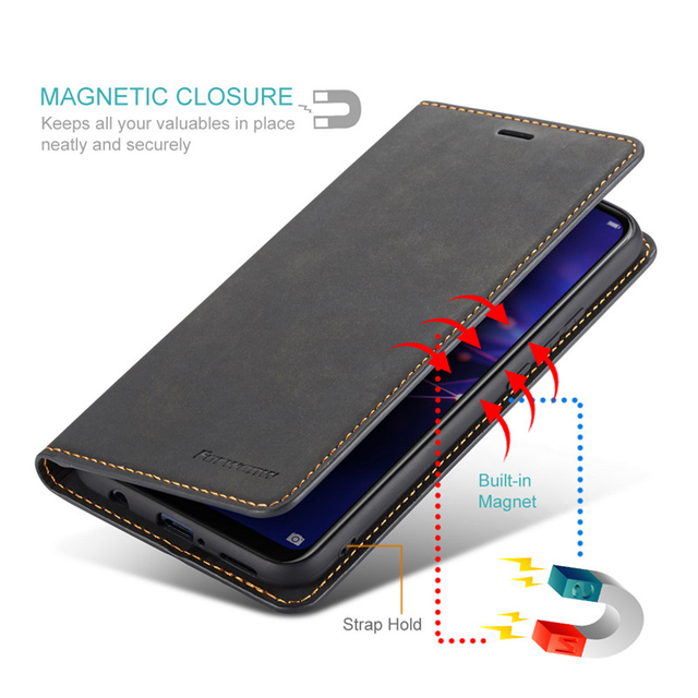 Luxury Leather Flip Case For Samsung Galaxy S9 S8 S10 J4 J6 Plus A40 A50 A60 A70 A30 Note9 A7 A8 2018 Magnet Wallet Cover Coque