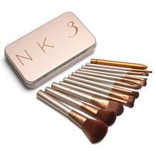 12 unids Profesional nuevo desnudo 3 brochas de herramientas set NK3 maquillaje cepillos kit de pinceaux maquillage cepillo belleza envío gratis