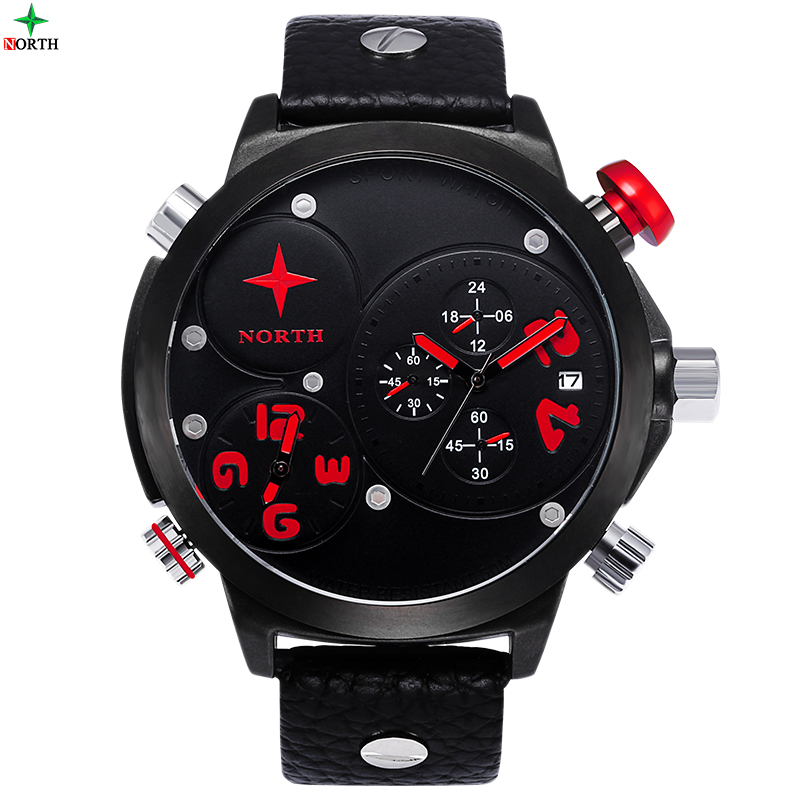 montre homme 2016 sport de luxe montres hommes militaire quartz montre en cuir xfcs hodinky. Black Bedroom Furniture Sets. Home Design Ideas