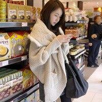new fashion shawl batwing sleeve design loose autumn and winter women cardigan loose sweaters sweaters fashion