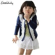 Baby Cardigan Jacket Coat Long Sleeve Autumn Girls Kids Lace