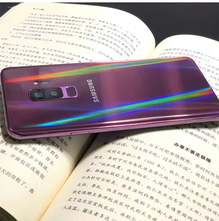 For Samsung Note8 Note9 S8 8P S9 S9P Aurora Transparent Back Film Mobile Phone Protective Back Soft Film Invisible Soft Film
