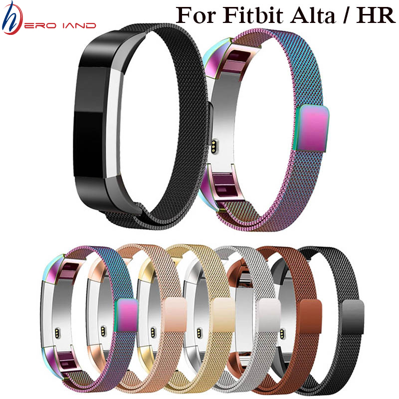 Fashion Metal High Quality Replacement Strap Wrist Band Belt For Fitbit Alta Bracelet HR Monitor Smart Watch Accessories 10color