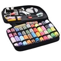 Urijk 24 Colors Sewing Tool Set Thread Crochet Hooks Scissor Hand Knitting Needles For Needlework Household