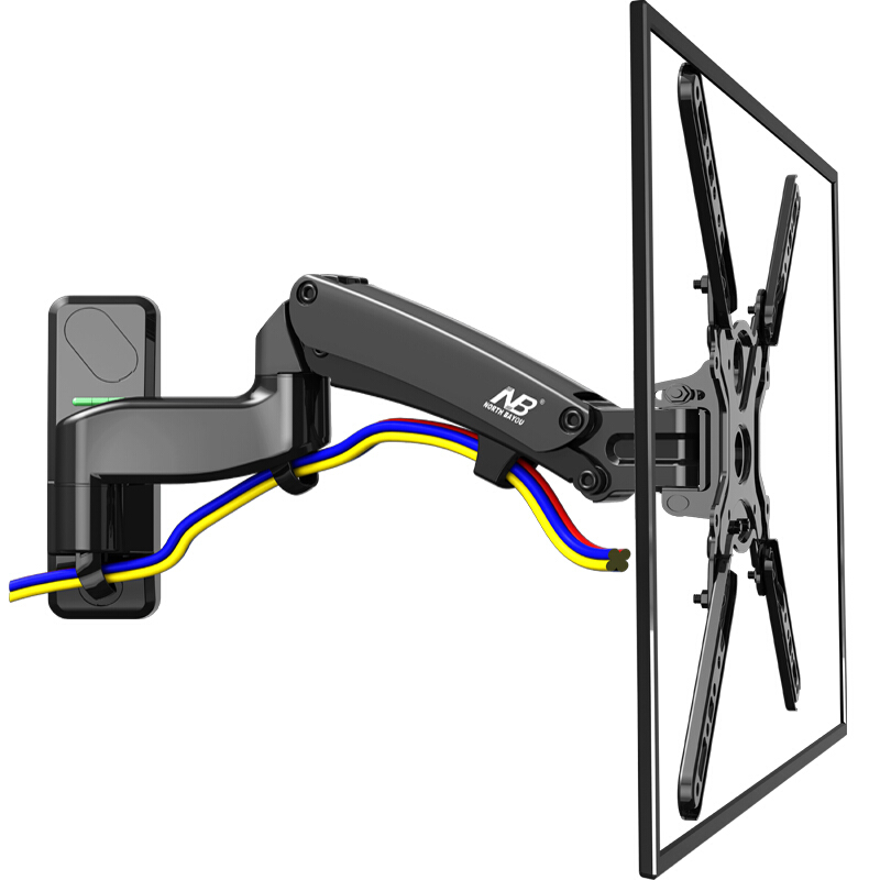 NB F500 TV support mural 50-60 pouces support de moniteur LCD ressort à gaz levage gratuit pivotant supports extensibles bras Long support de suspension TV
