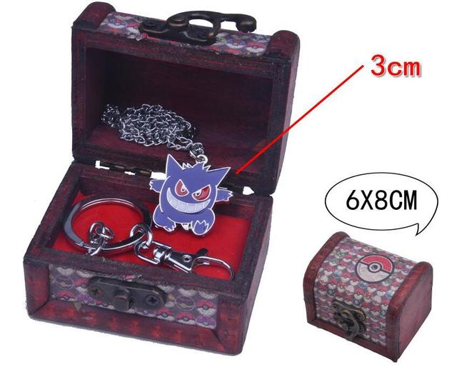 Брелок и кулон Покемон Генгар в подарочной коробке
