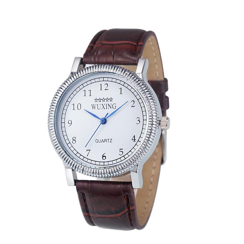Durable Top Luxury Mens Womens Fashion Faux Leather Band Analog Dress Bracelet Wrist Quartz Watch