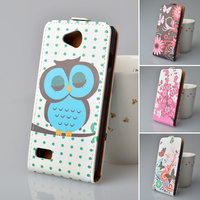 Flip Case For ZTE Q LUX 4G Hard Cover For ZTE Blade Q LUX 4G Case Owl Butterflies Flower Cartoon Printing Protective Phone Case