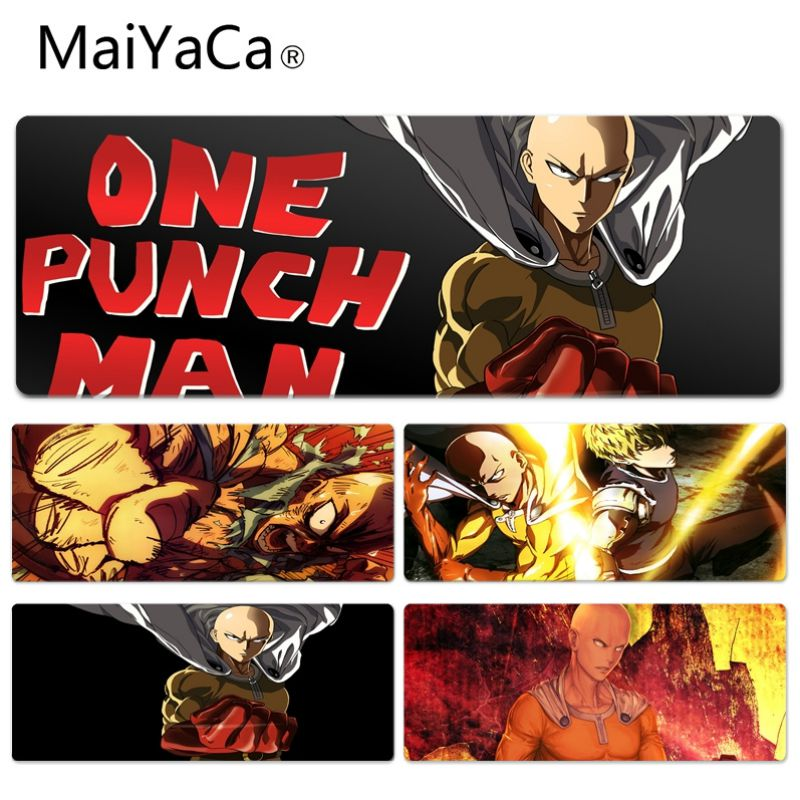MaiYaCa High Quality One Punch Man Durable Rubber Mouse Mat Pad Size for 300*600 300*700 300*800 300*900 and 400*900*2mm