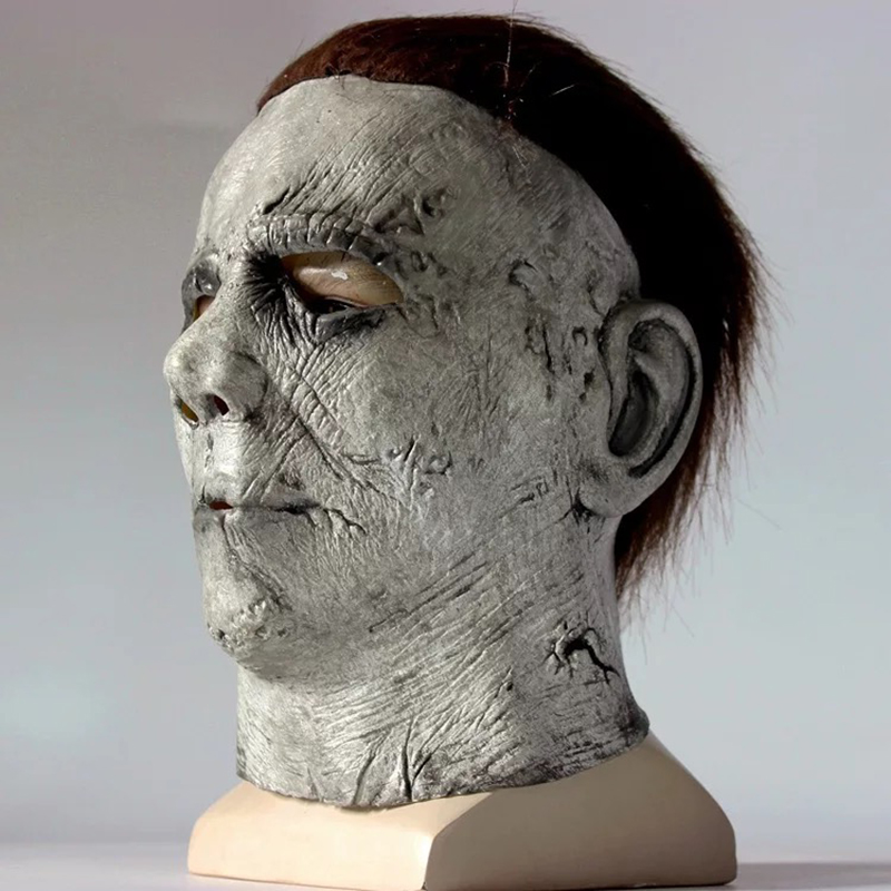 Image 3 - Halloween Hot Movie Latex Horror Michael Myers Mask Adults Cosplay Full Face Halloween Costume Party Props Masks-in Party Masks from Home & Garden